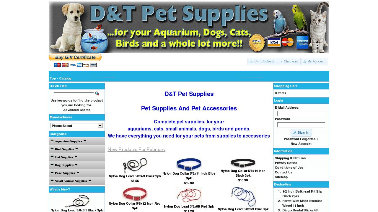 Aquariums and accessories: a selection of sites