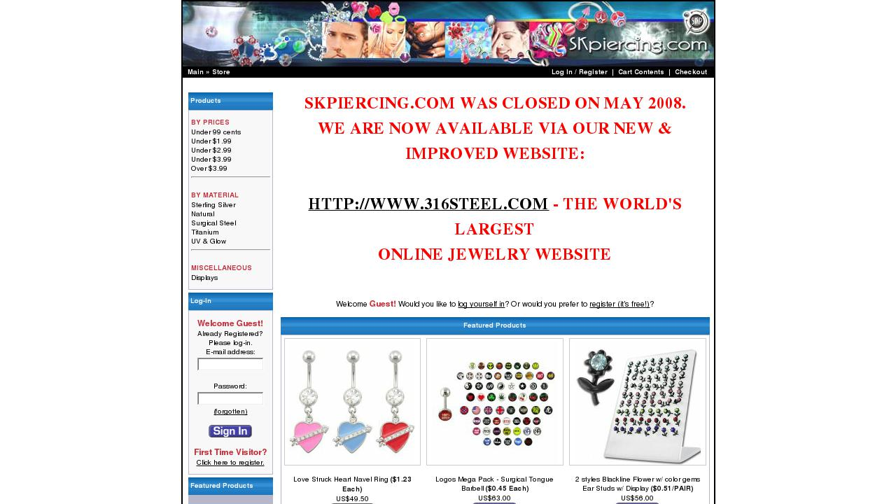 Wholesale Body Jewelry By SK Piercing