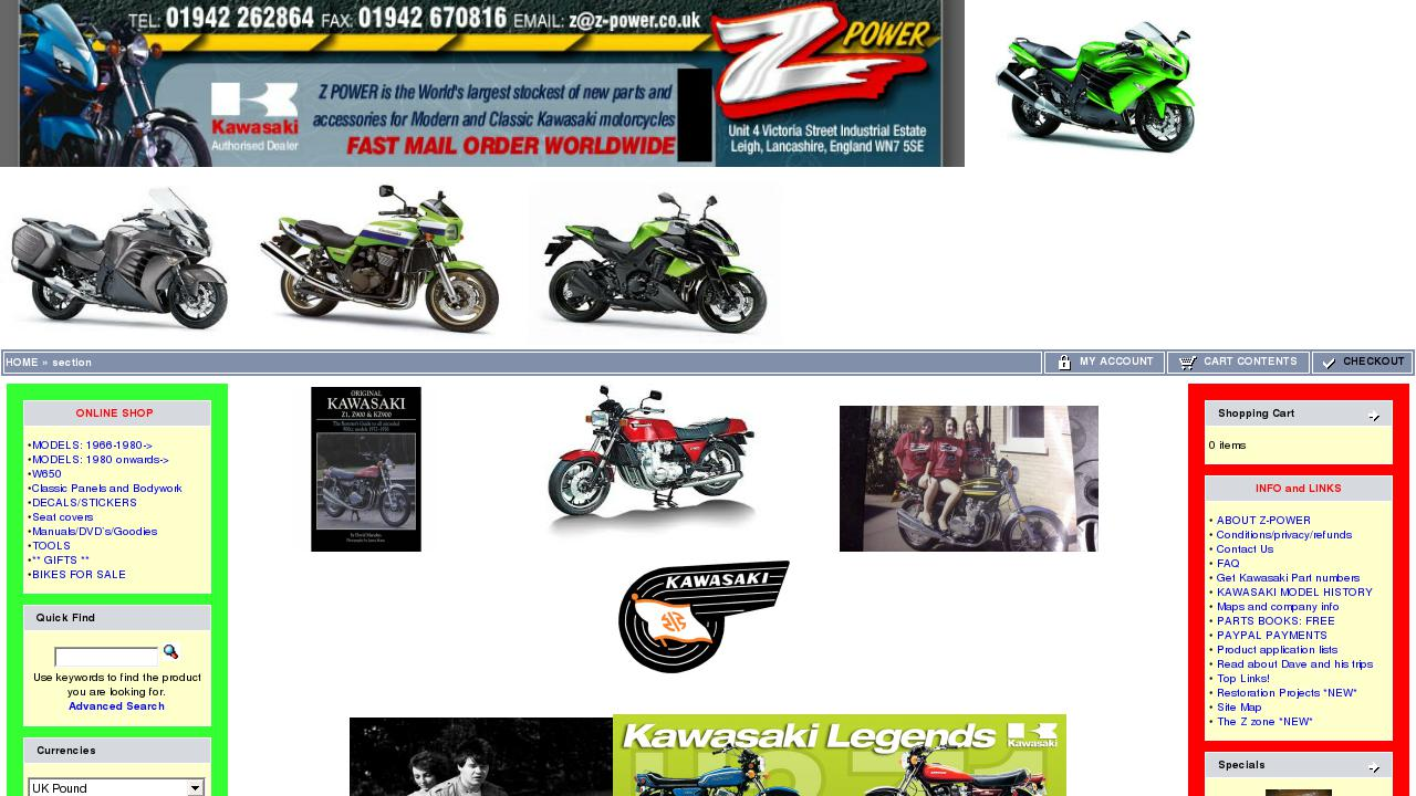 Sale of motorcycles: a selection of sites