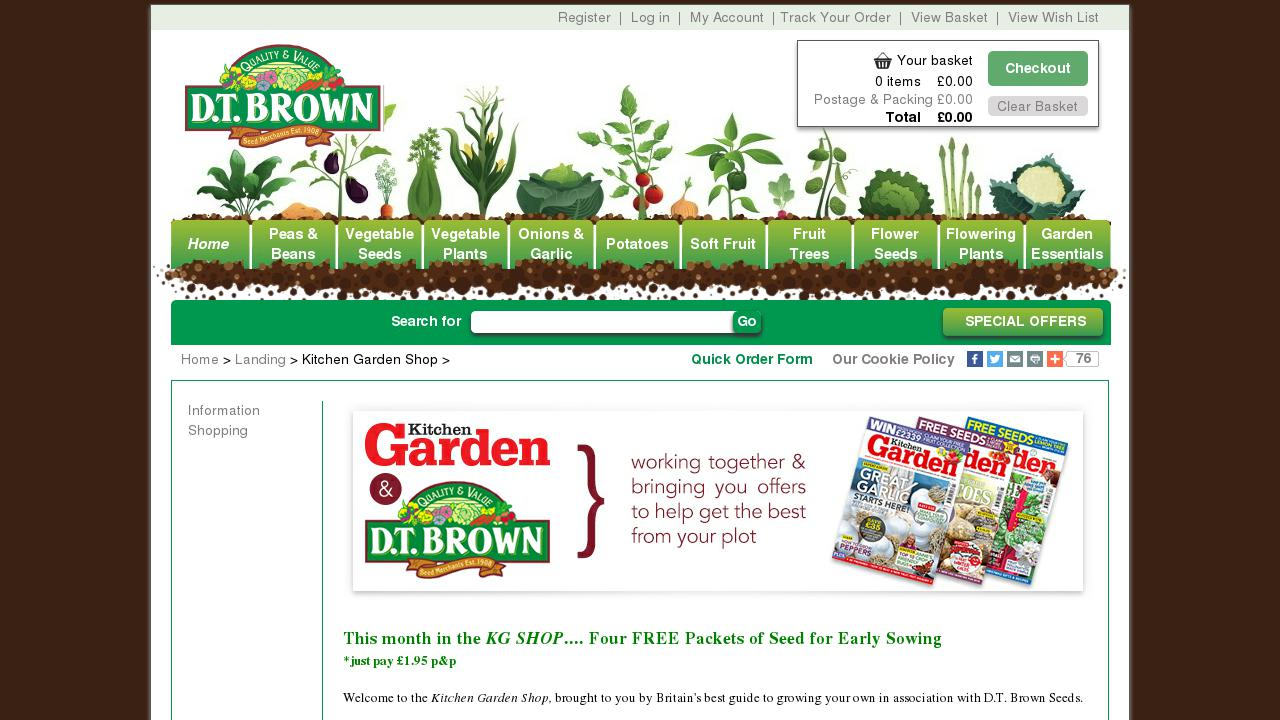 Kitchen Garden Shop Live Sites In Foods And Beverages Fruits And Vegetables Oscommerce